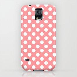 Coral Cream Peach Polka Dot Pattern iPhone Case