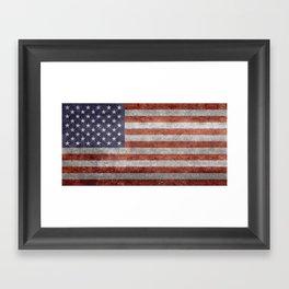 United States of America Flag 10:19 G-spec Vintage Framed Art Print