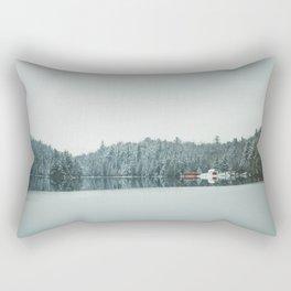 Frozen Lake in Canada Rectangular Pillow