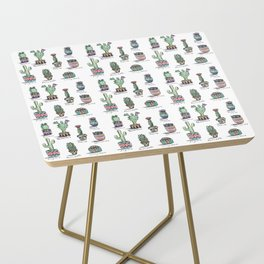 Cactus and Succulent Pattern Side Table
