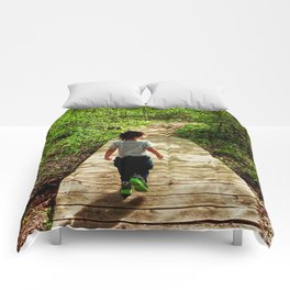 Walking Into the Future Comforters