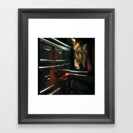 Light and Drawers Framed Art Print
