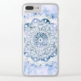 BLUE SKY MANDALA Clear iPhone Case