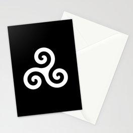 Triskele 10 -triskelion,triquètre,triscèle,spiral,celtic,Trisquelión,rotational Stationery Cards