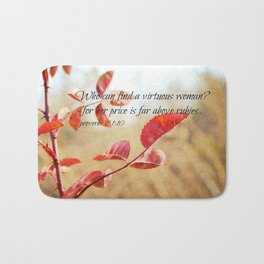 Virtuous Woman Proverbs Bath Mat