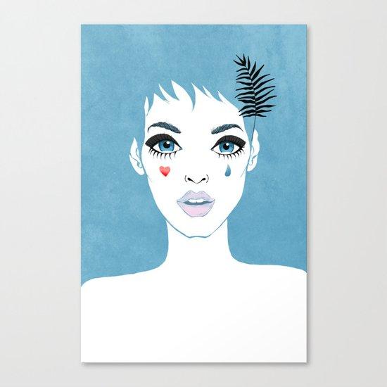 Сrying girl Canvas Print