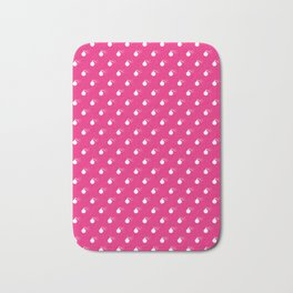 HOT PINK & WHITE BOMB DIGGITYS ALL OVER LARGE Bath Mat