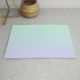 Mint Green and Lavender Ombre Rug