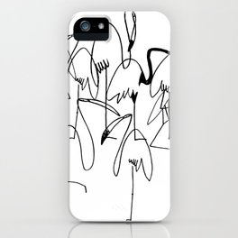 handrawn flamingo iPhone Case