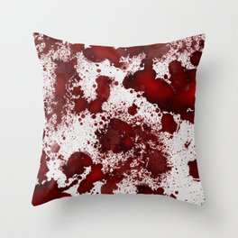 Blood Stains Throw Pillow