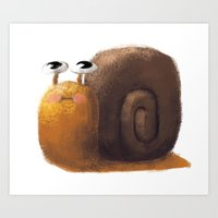 snail Art Prints featuring Snail by Isableh