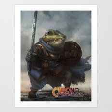 A knightly Frog  Art Print