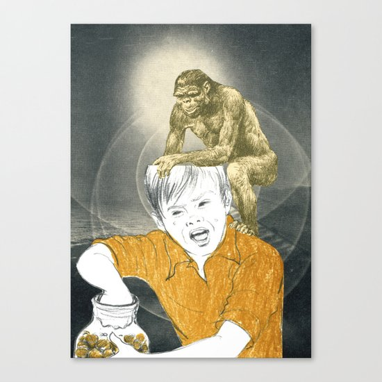 Who's The Monkey, In This Monkey World ? Canvas Print