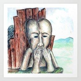 silent monument Art Print