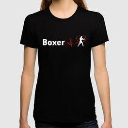 COOL BOXER HEARTBEAT DESIGN T-shirt