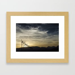 Wind Turbines Landscape Framed Art Print