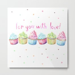 For You with Love Metal Print