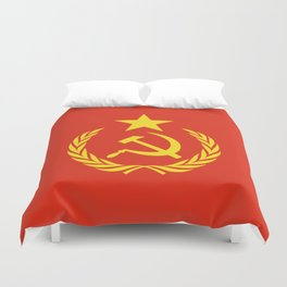 Russian Communist Flag Hammer & Sickle Duvet Cover