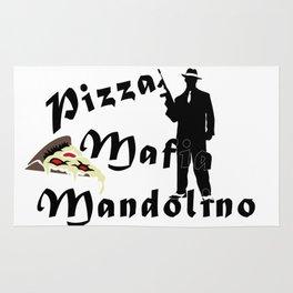 Italian style pizza mafia mandolino Rug