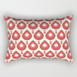 Drops Retro Pink Rectangular Pillow