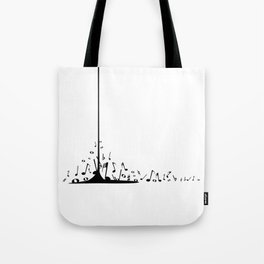 Pouring Musical Notes Tote Bag