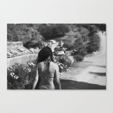 girl from behind Canvas Print