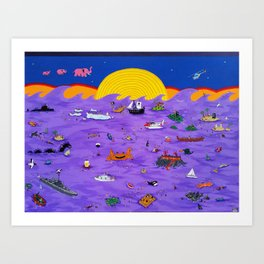 Mar de Trago IV Art Print