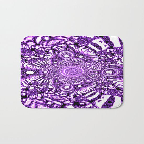 Precisely Abstract (Purple)  Bath Mat