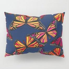 Hot Monarchs on Navy Pillow Sham