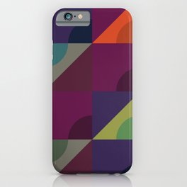 Geometric triangular pattern iPhone Case