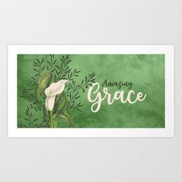 Amazing Grace (green) Art Print