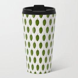 Hops Light Gray Pattern Travel Mug