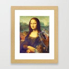 Mona Lisa Squirrel Photo Bomb Pop Art Framed Art Print
