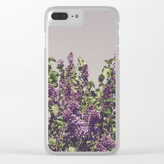 Wild Lilacs Clear iPhone Case