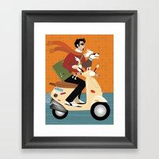 Scooter Pooch Framed Art Print
