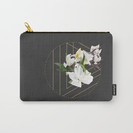 Tropical Flowers & Geometry III Carry-All Pouch