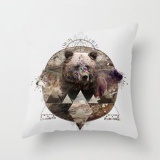 ANIMAL ECHOES Throw Pillow