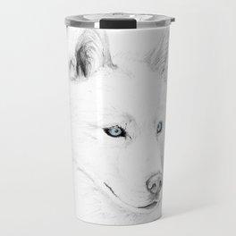 Saber :: A Siberian Husky Travel Mug