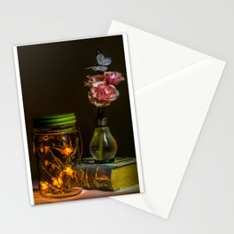 Fireflies in a bottle Stationery Cards