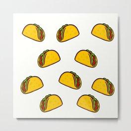 Tacos Metal Print