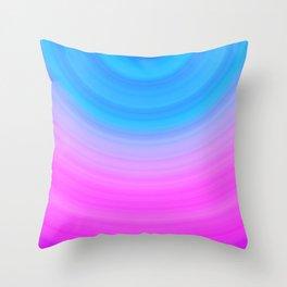 Pink & Blue Circles Throw Pillow