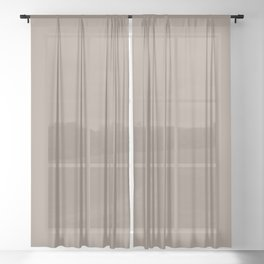 Sherwin Williams Trending Colors of 2019 Moth Wing (Light Brown / Taupe) SW 9174 Solid Color Sheer Curtain