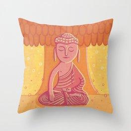 Buddha C Throw Pillow