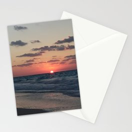 northern coast egypt sunset 4 Stationery Cards
