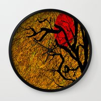 twilight Wall Clocks featuring TWILIGHT by aztosaha