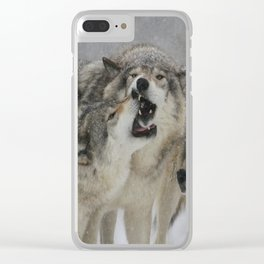 Family Squabble Clear iPhone Case