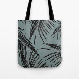 Black Palm Leaves Dream #4 #tropical #decor #art #society6 Tote Bag