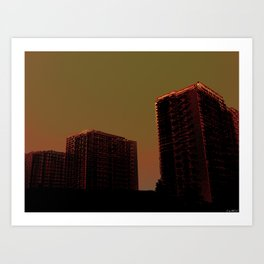 - la ville - Art Print