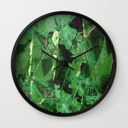 Abstract Magical Forest Wall Clock