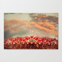 Wonderful Whirled Carousel Canvas Print